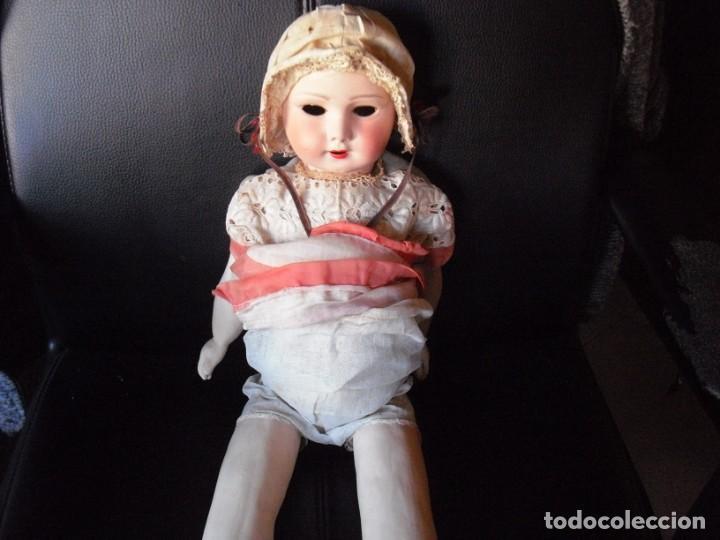 Muñeca española clasica: Muñeca catalana1920 vestido todo de origen, cabeza porcelana,cuerpo machè,,60 cms,ojos dentro cabez - Foto 12 - 194302268