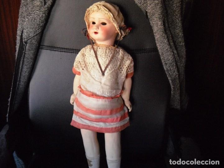 Muñeca española clasica: Muñeca catalana1920 vestido todo de origen, cabeza porcelana,cuerpo machè,,60 cms,ojos dentro cabez - Foto 13 - 194302268