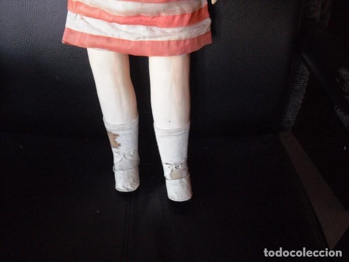 Muñeca española clasica: Muñeca catalana1920 vestido todo de origen, cabeza porcelana,cuerpo machè,,60 cms,ojos dentro cabez - Foto 14 - 194302268
