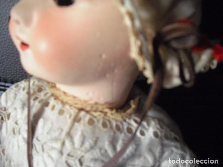 Muñeca española clasica: Muñeca catalana1920 vestido todo de origen, cabeza porcelana,cuerpo machè,,60 cms,ojos dentro cabez - Foto 15 - 194302268