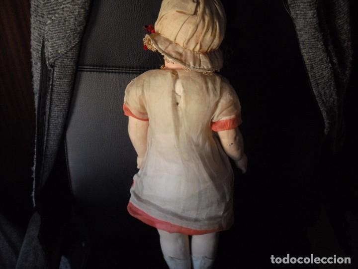 Muñeca española clasica: Muñeca catalana1920 vestido todo de origen, cabeza porcelana,cuerpo machè,,60 cms,ojos dentro cabez - Foto 16 - 194302268
