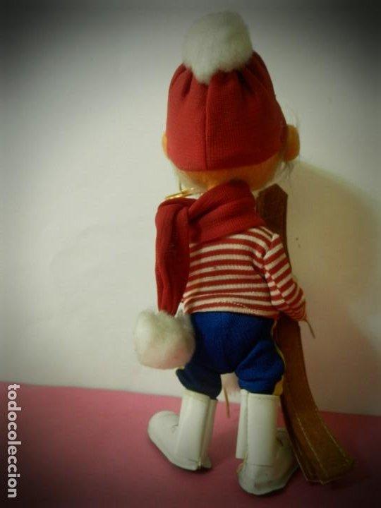 Muñeca española clasica: MUÑECO DE FIELTRO ANTIGUO ESQUIADOR LAYNA CON CAJA ORIGINAL - Foto 6 - 194306405