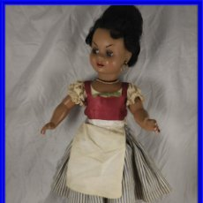 Muñeca española clasica: PRECIOSA MUÑECA DIANA MORENA VESTIDA DE GITANA ANDALUZA. Lote 194349553