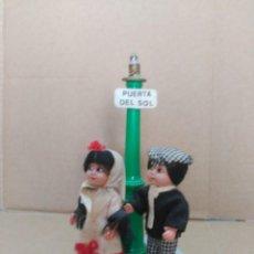 Muñeca española clasica: PAREJA DE MUÑECOS MADRILEÑOS 12 CM.Y 19 CM LA FAROLA.. Lote 194493932