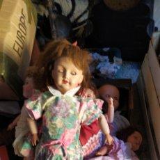 Muñeca española clasica: IMPRESIONANTE LOTE DE MUÑECAS ANTIGUAS. Lote 194679788