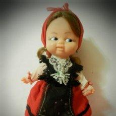 Muñeca española clasica: MUÑECA GALLEGA AÑOS 60 TIPO RAPACIÑA 24 CENTIMETROS. Lote 194722642