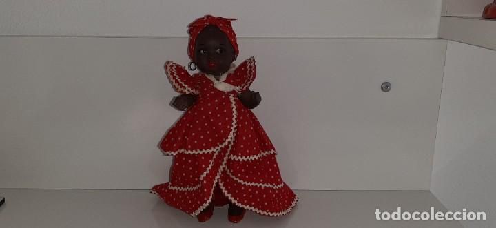 Muñeca española clasica: ANTIGUA MUÑECA NEGRA ESPAÑOLA DE TERRACOTA Y PAPEL MACHÉ AÑOS 40 / 50 ETNICA CUBANA - Foto 2 - 194748007