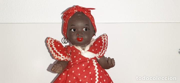 Muñeca española clasica: ANTIGUA MUÑECA NEGRA ESPAÑOLA DE TERRACOTA Y PAPEL MACHÉ AÑOS 40 / 50 ETNICA CUBANA - Foto 3 - 194748007