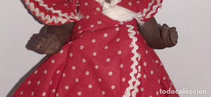 Muñeca española clasica: ANTIGUA MUÑECA NEGRA ESPAÑOLA DE TERRACOTA Y PAPEL MACHÉ AÑOS 40 / 50 ETNICA CUBANA - Foto 9 - 194748007