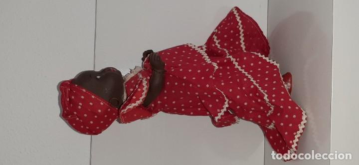 Muñeca española clasica: ANTIGUA MUÑECA NEGRA ESPAÑOLA DE TERRACOTA Y PAPEL MACHÉ AÑOS 40 / 50 ETNICA CUBANA - Foto 10 - 194748007