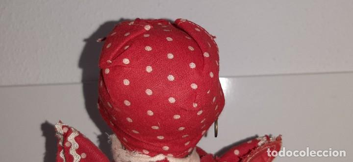 Muñeca española clasica: ANTIGUA MUÑECA NEGRA ESPAÑOLA DE TERRACOTA Y PAPEL MACHÉ AÑOS 40 / 50 ETNICA CUBANA - Foto 12 - 194748007