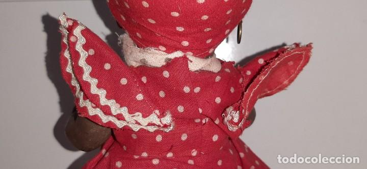 Muñeca española clasica: ANTIGUA MUÑECA NEGRA ESPAÑOLA DE TERRACOTA Y PAPEL MACHÉ AÑOS 40 / 50 ETNICA CUBANA - Foto 13 - 194748007