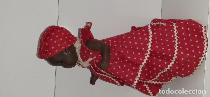 Muñeca española clasica: ANTIGUA MUÑECA NEGRA ESPAÑOLA DE TERRACOTA Y PAPEL MACHÉ AÑOS 40 / 50 ETNICA CUBANA - Foto 16 - 194748007