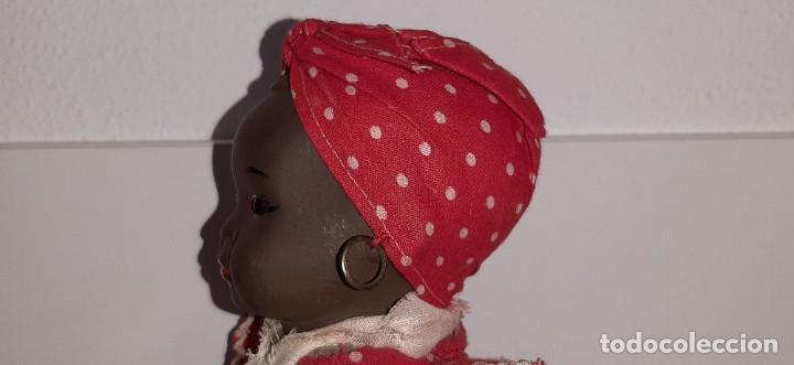 Muñeca española clasica: ANTIGUA MUÑECA NEGRA ESPAÑOLA DE TERRACOTA Y PAPEL MACHÉ AÑOS 40 / 50 ETNICA CUBANA - Foto 17 - 194748007