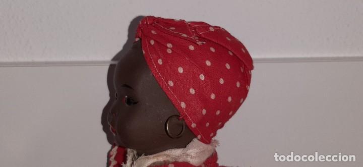 Muñeca española clasica: ANTIGUA MUÑECA NEGRA ESPAÑOLA DE TERRACOTA Y PAPEL MACHÉ AÑOS 40 / 50 ETNICA CUBANA - Foto 18 - 194748007