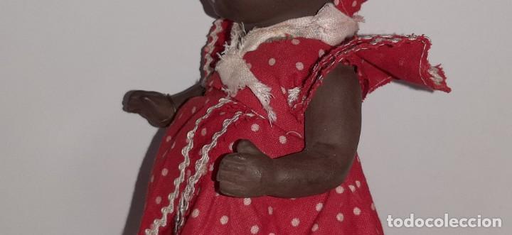 Muñeca española clasica: ANTIGUA MUÑECA NEGRA ESPAÑOLA DE TERRACOTA Y PAPEL MACHÉ AÑOS 40 / 50 ETNICA CUBANA - Foto 19 - 194748007