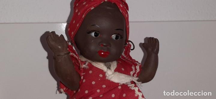 Muñeca española clasica: ANTIGUA MUÑECA NEGRA ESPAÑOLA DE TERRACOTA Y PAPEL MACHÉ AÑOS 40 / 50 ETNICA CUBANA - Foto 30 - 194748007