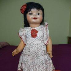 Muñeca española clasica: MUÑECA ANTIGUA CARTON PIEDRA DESCONOZCO NOMBRE MARIQUITA PEREZ GISELA CAYETANA CHELITO PELO MOHAIR. Lote 194898813