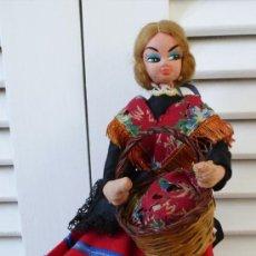 Muñeca española clasica: LAYNA- ROLDÁN -KLUMPE- MUÑECA VESTIDO DE LA MANCHA- DE FIELTRO. Lote 195084613