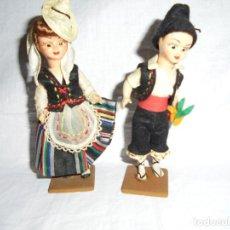 Muñeca española clasica: PAREJA DE MUÑECOS REGIONALES OJOS DURMIENTES. Lote 195111801