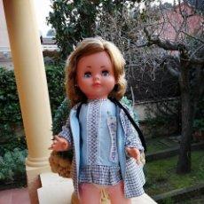Muñeca española clasica: MUÑECA TRESSY NOVO GAMA CON VESTIDO ABRIGUITO NOMBRE FUNCIONANDO. Lote 195213496