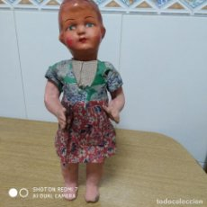 Muñeca española clasica: MUÑECA CARTÓN PIEDRA 40 CM ALTO AÑOS 40. Lote 195230690