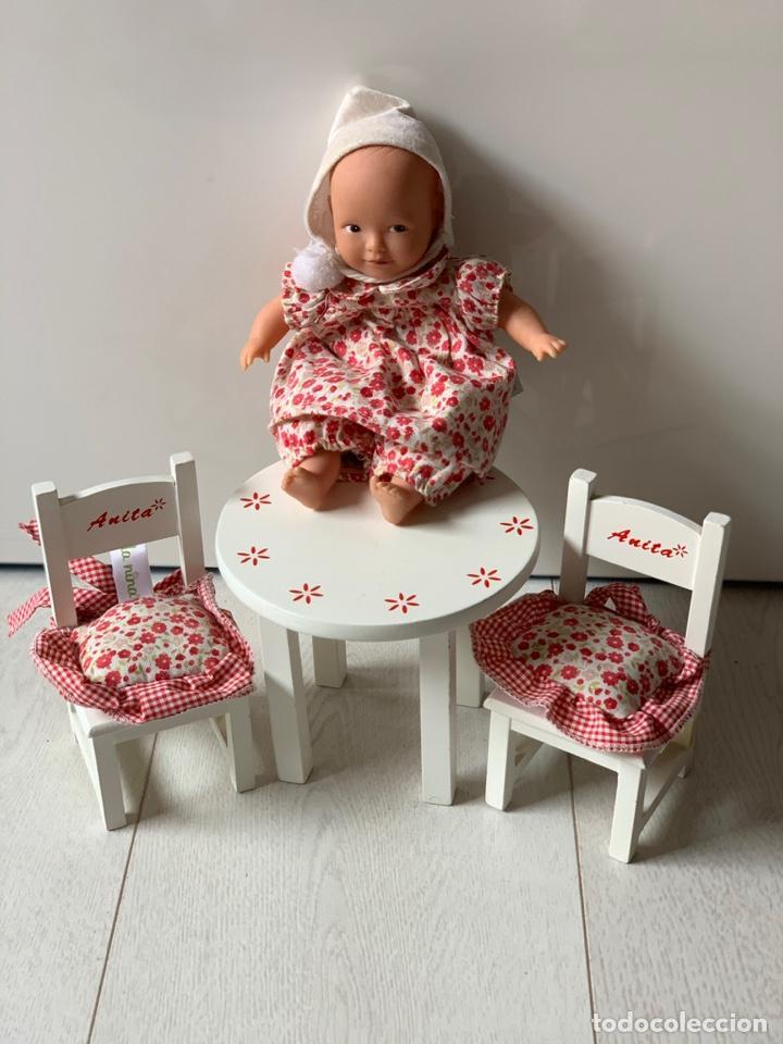 Muñeca española clasica: Muñeca Anita la Nina con mesa y sillas de madera - Foto 2 - 195276123
