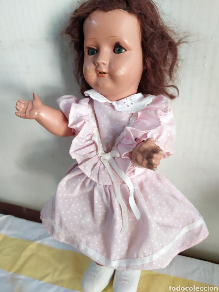Muñeca española clasica: Antigua muñeca de composición - Foto 3 - 195476503