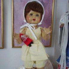 Muñeca española clasica: PURITA, MARIQUITA DE ESCAPARATE, AÑOS 50, FLORIDO, EL MISMO FABRICANTE QUE MARIQUITA PEREZ. Lote 182169482