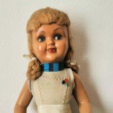 Muñeca española clasica: MUÑECA ESPAÑOLA. CELULOIDE Y COMPOSICIÓN. PELO DE MOHAIR. AÑOS 40. Lote 196286665