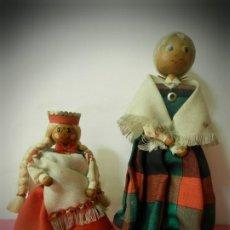 Muñeca española clasica: MUÑECAS DE MADERA ANTIGUAS PINTADAS A MANO MARCA DAILRADE. Lote 196742446