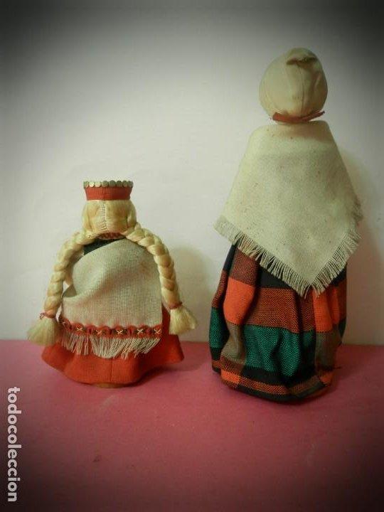 Muñeca española clasica: MUÑECAS DE MADERA ANTIGUAS PINTADAS A MANO MARCA DAILRADE - Foto 4 - 196742446