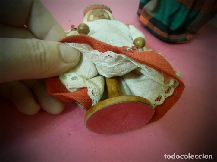Muñeca española clasica: MUÑECAS DE MADERA ANTIGUAS PINTADAS A MANO MARCA DAILRADE - Foto 5 - 196742446