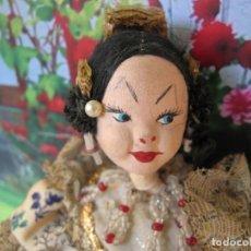 Muñeca española clasica: ORIGINAL MUÑECA DE FIELTRO NISTI DE FALLERA VALENCIANA DECADA 1940. Lote 196790121