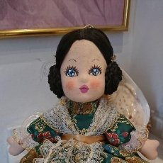 Muñeca española clasica: FALLERA VALENCIANA DE TRAPO, MUÑECA ESPAÑOLA. Lote 196866292
