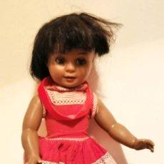 Muñeca española clasica: CAYETANA NEGRITA. CELULOIDE. DIANA. NECESITA RESTAURACIÓN. ESPAÑA. AÑOS 60. Lote 196888497