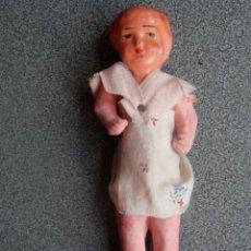 Muñeca española clasica: MUÑECA MUY ANTIGUA DE CARTÓN PIEDRA (SIN USAR) - 15 CENTÍMETROS. Lote 197217471
