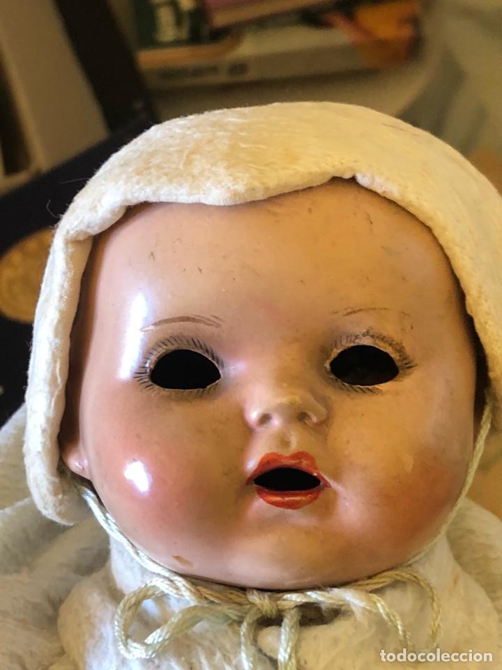 Muñeca española clasica: Bonita muñeca antigua, cabeza de porcelana, cuerpo de trapo - Foto 2 - 197300423