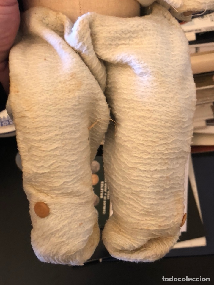 Muñeca española clasica: Bonita muñeca antigua, cabeza de porcelana, cuerpo de trapo - Foto 5 - 197300423