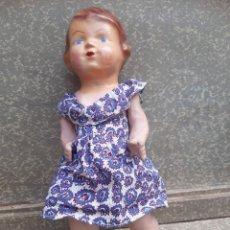 Muñeca española clasica: MUÑECA PEPONA, DE CARTON PIEDRA, HACIA 1940.. Lote 198306351