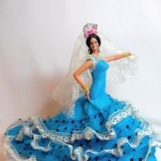 Muñeca española clasica: MUÑECA GITANA DE MARIN EN 27 CM,MUY BUEN ESTADO. Lote 241725540