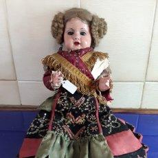 Boneca espanhola clássica: PRECIOSA ,UNE A DE CARTÓN PIEDRA,TRAJE REGIONAL,OJOS DURMIENTES AÑOS 30. Lote 199288152