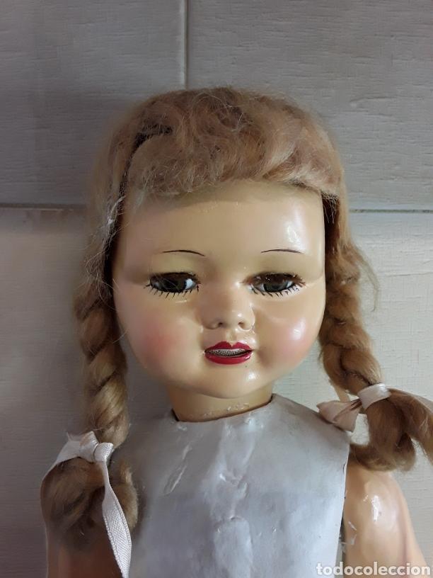 Muñeca española clasica: Preciosa muñeca de cartón piedra años 40 - Foto 2 - 199288986