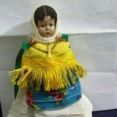 Muñeca española clasica: MUÑECA CELULOIDE DE IBIZA. BRAZOS Y PIERNAS ARTICULADOS. PINTADA A MANO. TRAJE REGIONAL IBICENSO. Lote 199506307