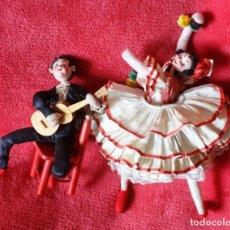Muñeca española clasica: BAILAORES FLAMENCOS DE ROLDAN, MUY BUEN ESTADO. Lote 201101111