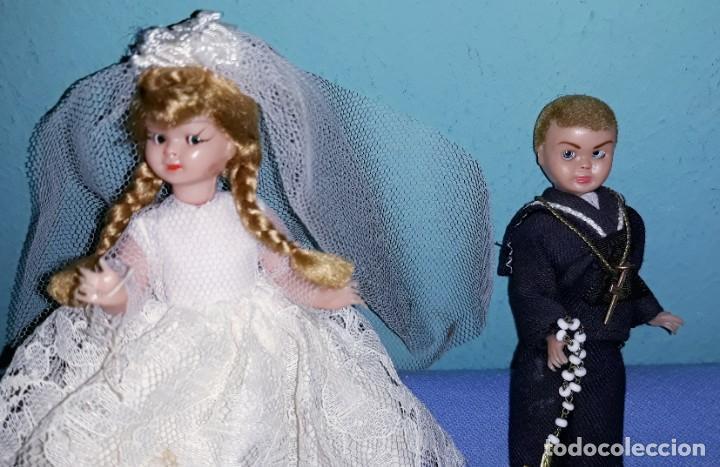 Muñeca española clasica: MUÑECO Y MUÑECA DE CELULOIDE DE TARTA AÑOS 50 OJOS DURMIENTES - Foto 2 - 201356786