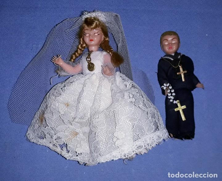 Muñeca española clasica: MUÑECO Y MUÑECA DE CELULOIDE DE TARTA AÑOS 50 OJOS DURMIENTES - Foto 3 - 201356786
