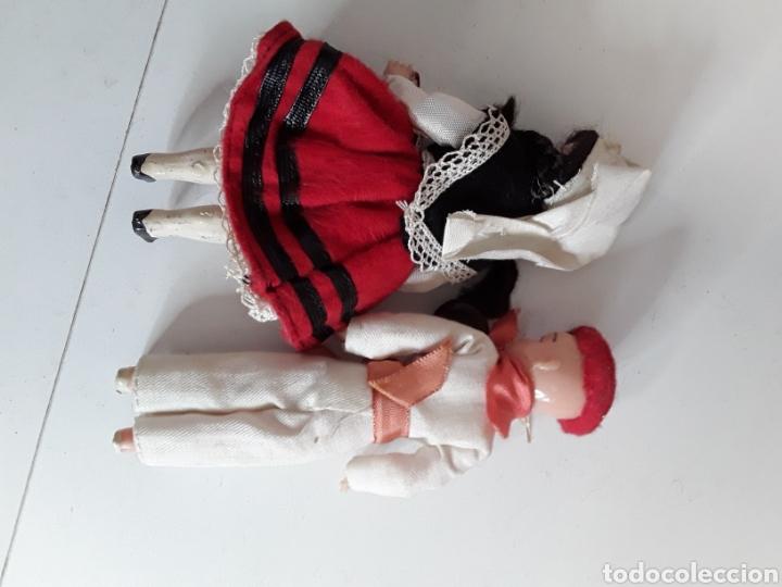 Muñeca española clasica: Pareja regionales en celuloide años 50 - Foto 2 - 203580987