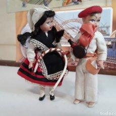 Muñeca española clasica: PAREJA REGIONALES EN CELULOIDE AÑOS 50. Lote 203580987