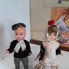 Muñeca española clasica: PAREJA DE CHULAPOS MADRILEÑOS EN CELULOIDE AÑOS 50/60 DE SOBREMESA. Lote 203582053